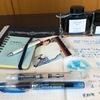  色彩雫の天色をプレピー万年筆のMで書いて紺碧と色をくらべた[カクノ万年筆][色彩雫]