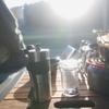 野営地で作る自動ナポリタンとたまたま見つけた素敵な景色とコーヒー