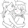 抱きしめ合うふたり