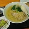 大森【森盛酒場】鶏肉ネギタンメン+半チャーハン ¥500+麺大盛 ¥100