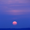 錦江湾を挟んでの夕陽です。
