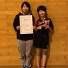 あきほ選手と、ちひろ姉さんが優勝✨✨鈴亀地区中学校協会杯卓球大会。