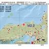 2016年08月03日 22時45分 鳥取県東部でM2.2の地震