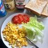 マヨネーズ代わりにオリーブオイルと塩とお酢で卵サンド