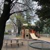 中野区立平和の森公園第2工区の新しくなった児童遊具(2020年4月)