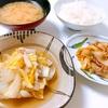 白菜と豚バラばかりの簡単メニューなごはん。