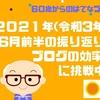 2021年(令和3年)6月前半の振り返り ブログの効率化に挑戦中!