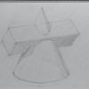 円錐を描くその1 絵画教室にて