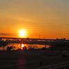 満月から太陽へ。復活のバトンが渡った!荒川河川敷ラン