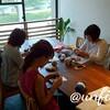 レッスンレポート)7/13本川町教室 連日の猛暑の中編み物は暑いけど、やめられないのです
