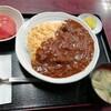 西川口の「あおき食堂」でふわとろたまごデミソースかけ丼定食を食べました★