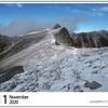 山の自然学カレンダー2020 11月・中央アルプス駒ヶ岳の初冬
