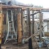 昨日は一日、露天風呂と釜戸つきカウンターデッキの柱が終わりました。来春施工十六角形ログの練習場!