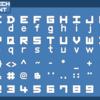 TerraTechロゴ風フォントを作ってみた