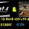 7/15 Bmt4+ロジックS 成績 +15150GC +5.2%