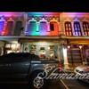 美しいオールドタウンの夜、ババニョニャ料理も美味しいです♩