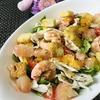 肉と大量のごはんのセットが定番のフィリピンで、サラダを食べてデトックス(*^▽^*)