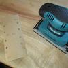 樟のダイニングテーブル その7 - 天板表を仕上げる