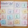 【Brain Quest  Pre-K】(4)同じアルファベット同士を線で結ぶ