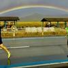 虹の橋を渡るランナーたち!!福知山マラソンで驚いたこと。裸足ランナー、福知山をかける!!