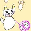 Art iPadで描いた毛糸で遊ぶ猫ちゃんです