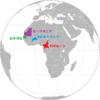 アフリカの赤黄緑の国旗②