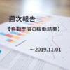 【週報】自動売買の運用実績 2019.11.01現在