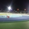 三郷市陸上競技場で400m×10本