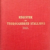 1921.00 REGISTER OF THOROUGHBRED STALLIONS 1921.