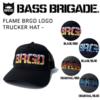 【バスブリゲード】刺繍ロゴを施したトラッカーキャップ「FLAME BRGD LOGO TRUCKER HAT」発売!