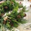 【生花レッスン】ミックスグリーンリース・クリスマスツリー