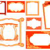 飾り罫、飾り枠の素材