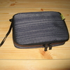 g0044 Coconeeds モバイル収納トラベルポーチ PC周辺小物整理収納用ケース 大容量 生活防水 20枚コードクリップ付き ブルー