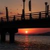 竹島海岸の夕陽 2013年 年末