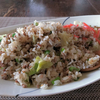 レタスと牛ひき肉の炒飯