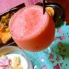 西瓜のフローズンヨーグルトカクテル