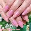 さりげなく輝く指先が魅力的♡シェル&うる艶ピンクの大人エレガントネイル☆