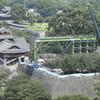 地震で被災、熊本城の倒壊防げ…応急工事を公開