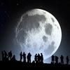 十五夜と月の模様