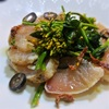 ビンチョウマグロと菜の花のサラダ