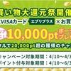 カード発行とネットショッピングでプラス10000ポイント☆ちょビリッチ