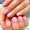 連続記録更新中♡お気に入り♪うる艶ピンクベージュのワンカラーネイルで美しく☆
