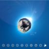 まだ雪のこる山 空の青がとてもきれいです #360pic