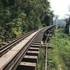 再びカンチャナブリーに戻って、またまた鉄道に乗りアルヒル桟道橋を歩く!!