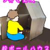 5分で完成!超簡単・折りたたみ式時短段ボールハウスの作り方