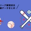 【プロ野球】セリーグ練習試合のデータまとめ【6月14日更新】