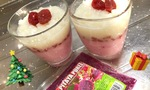 【可愛さ◎】着色料なし!ピタヤピューレを使って苺ミルク色のゼリーを作ろう★