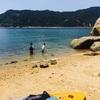 桂が浜で海水浴とちょっとSUP