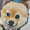 【カリカチュアで愛犬の似顔絵】