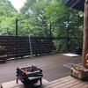 別荘DIY 手作り焼き杉でパーテーション完成